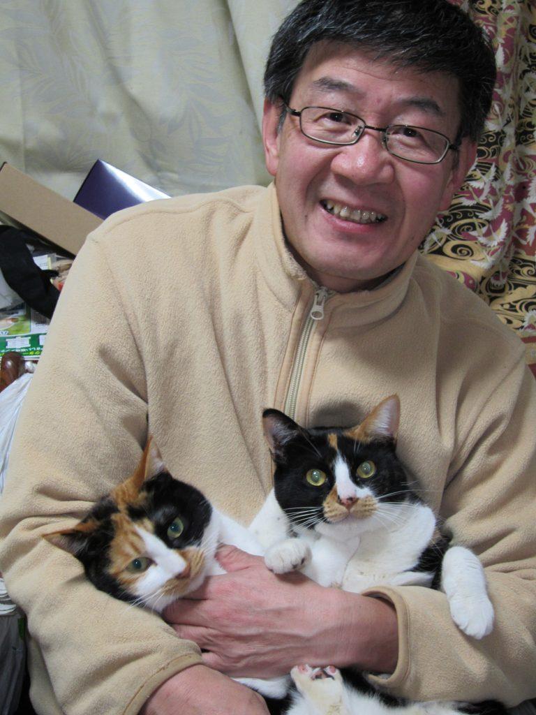 愛猫(ミウとナナ)との写真